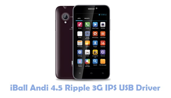 Download iBall Andi 4.5 Ripple 3G IPS USB Driver
