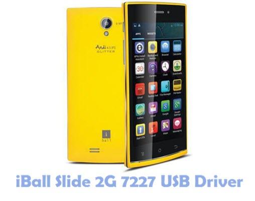 Download iBall Slide 2G 7227 USB Driver