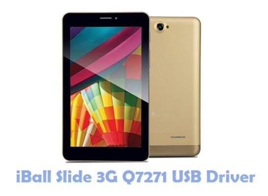 Download iBall Slide 3G Q7271 USB Driver