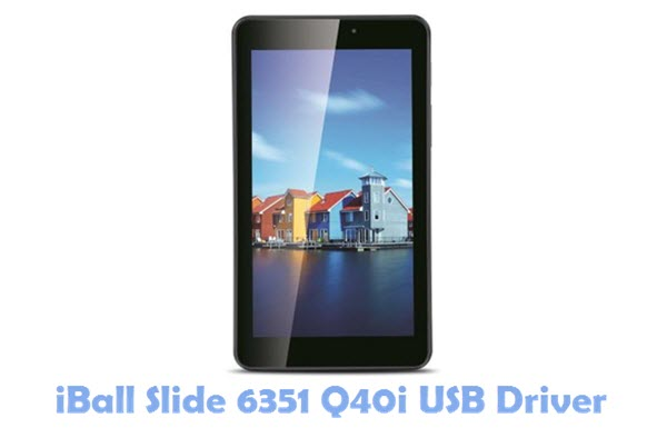 Download iBall Slide 6351 Q40i USB Driver