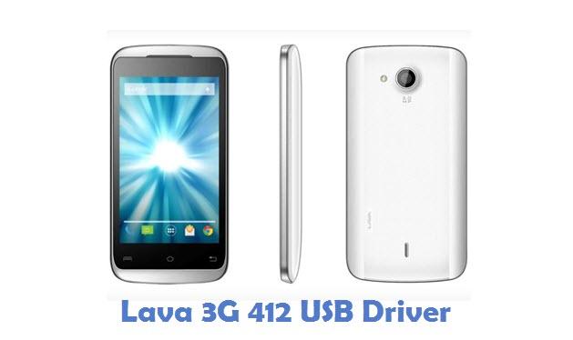 Lava 3G 412 USB Driver