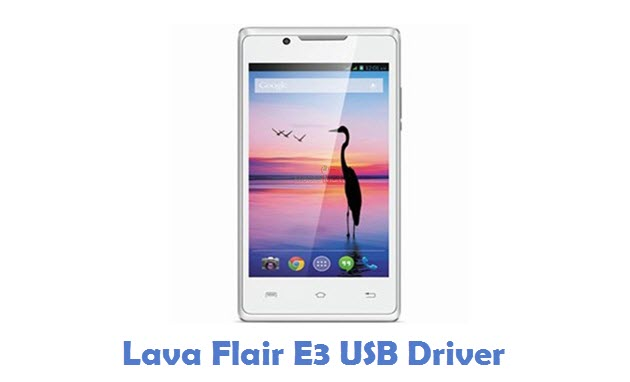 Lava Flair E3 USB Driver