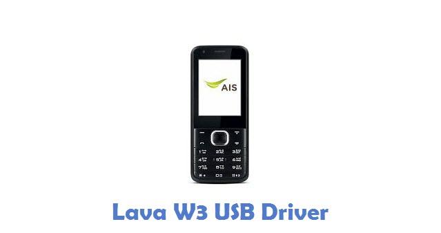 Lava W3 USB Driver