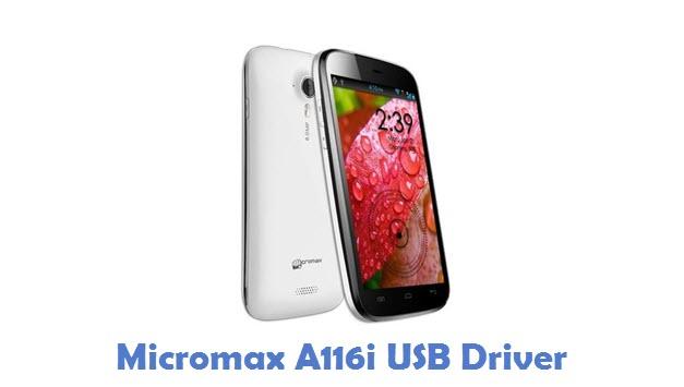Micromax A116i USB Driver