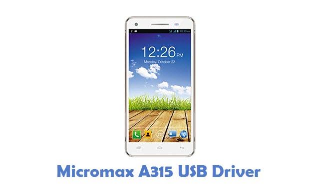 Micromax A315 USB Driver