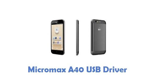 Micromax A40 USB Driver