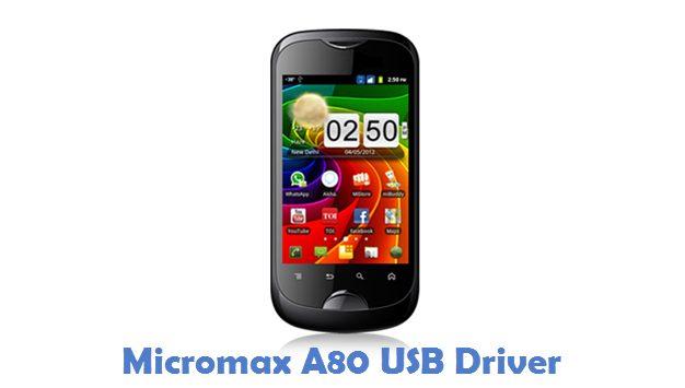 Micromax A80 USB Driver