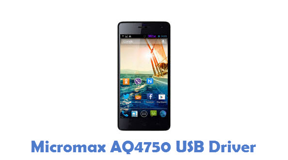 Micromax AQ4750 USB Driver