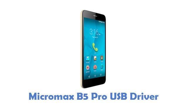 Micromax B5 Pro USB Driver
