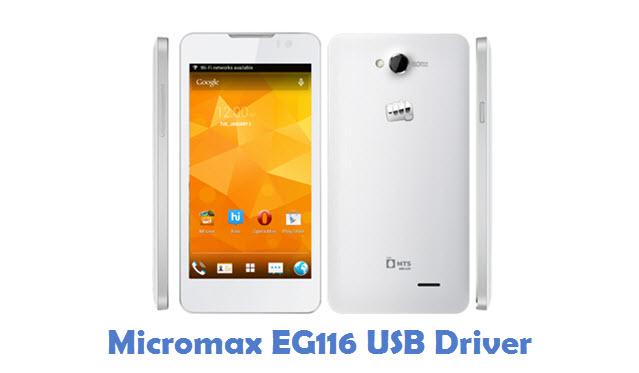Micromax EG116 USB Driver