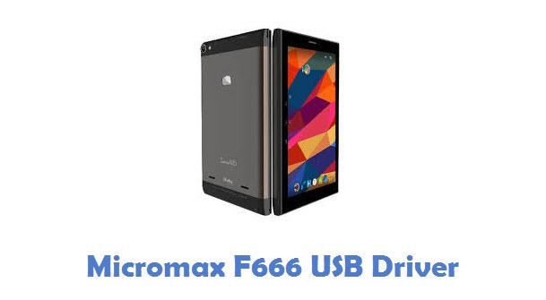 Micromax F666 USB Driver