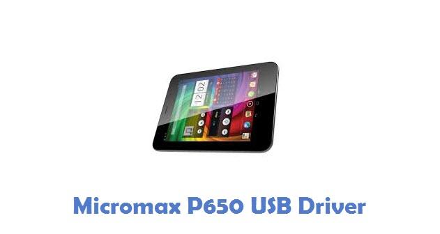 Micromax P650 USB Driver