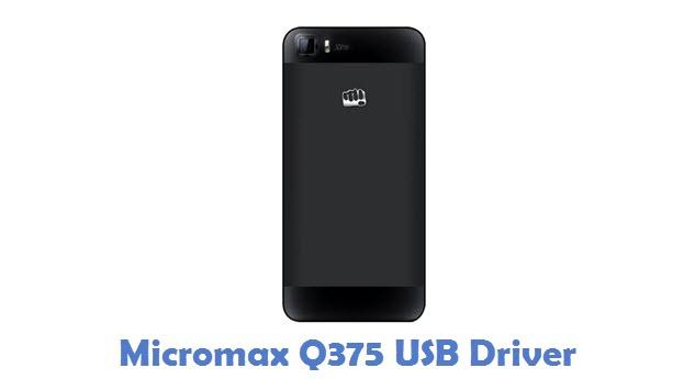 Micromax Q375 USB Driver