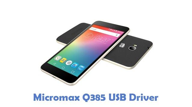 Micromax Q385 USB Driver