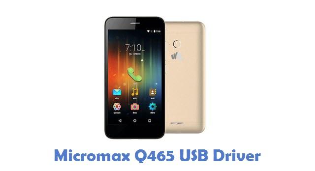 Micromax Q465 USB Driver