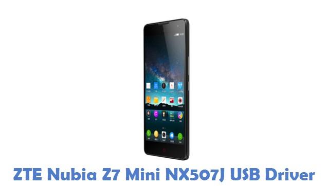 ZTE Nubia Z7 Mini NX507J USB Driver