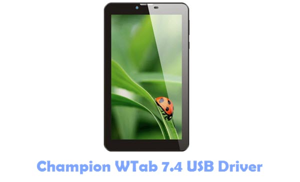 Download Champion WTab 7.4 USB Driver