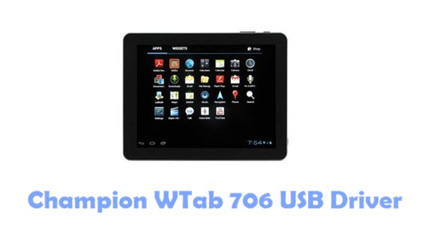 Download Champion WTab 706 USB Driver