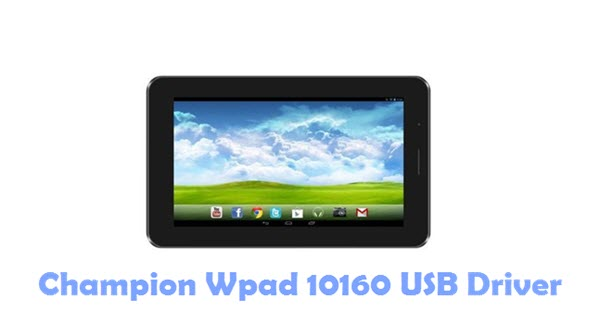 Download Champion Wpad 10160 USB Driver