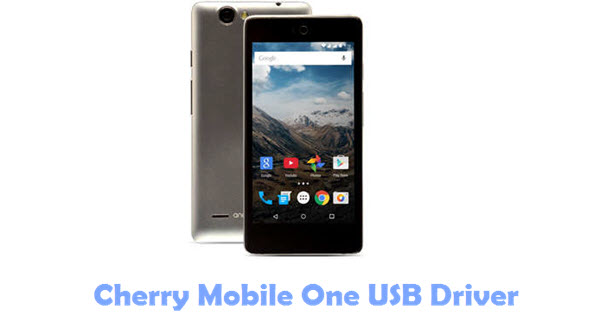 Cherry Mobile One USB Driver