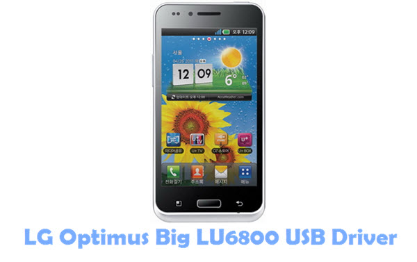 Download LG Optimus Big LU6800 USB Driver
