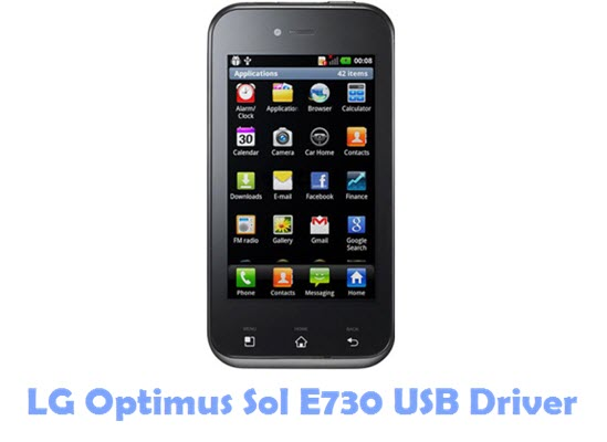 Download LG Optimus Sol E730 USB Driver