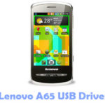 Lenovo A65 USB Driver