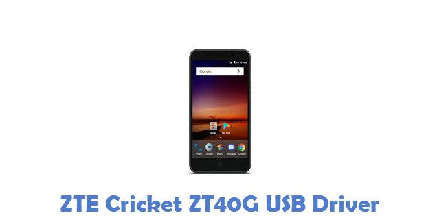 ZTE Cricket ZT40G USB Driver