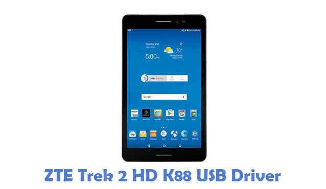 ZTE Trek 2 HD K88 USB Driver