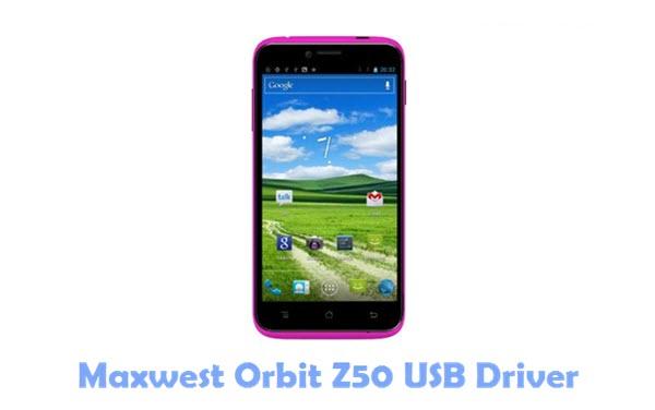 Maxwest Orbit Z50 USB Driver