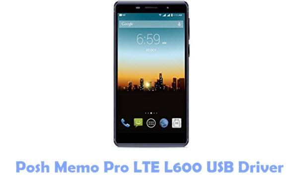 Posh Memo Pro LTE L600 USB Driver