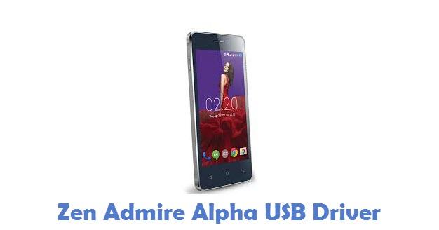 Zen Admire Alpha USB Driver