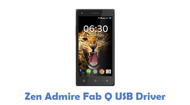 Zen Admire Fab Q USB Driver