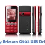 Sony Ericsson G502 USB Driver