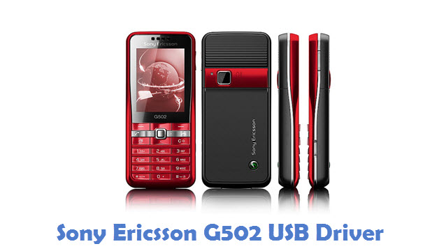 SONY ERICSSON G502 USB DRIVERS FOR MAC