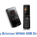 Sony Ericsson W980 USB Driver