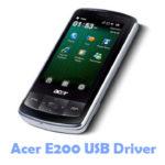 Acer E200 USB Driver