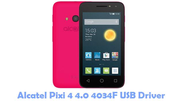 Alcatel Pixi 4 4.0 4034F USB Driver