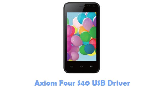 Axiom Four S40 USB Driver