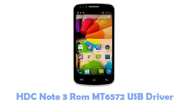 HDC Note 3 Rom MT6572 USB Driver