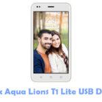 Intex Aqua Lions T1 Lite USB Driver