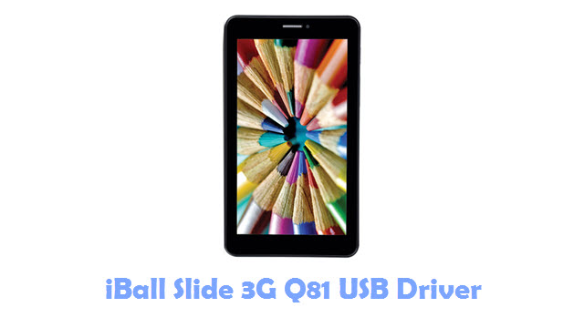 Download iBall Slide 3G Q81 USB Driver