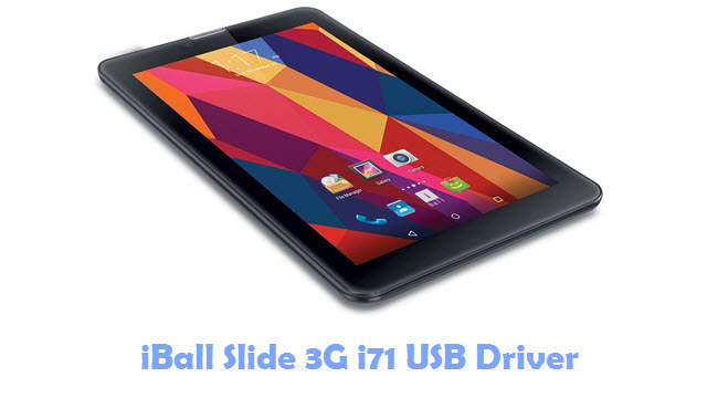 Download iBall Slide 3G i71 USB Driver