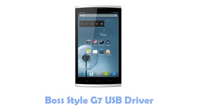 Boss Style G7 USB Driver