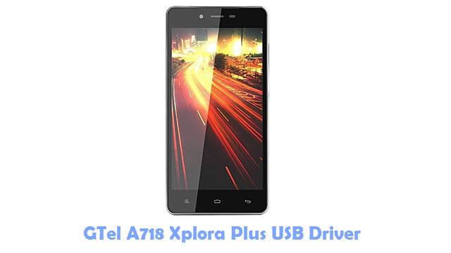 GTel A718 Xplora Plus USB Driver