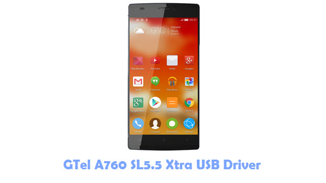 GTel A760 SL5.5 Xtra USB Driver