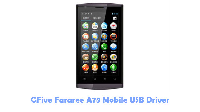 GFive Fararee A78 Mobile USB Driver