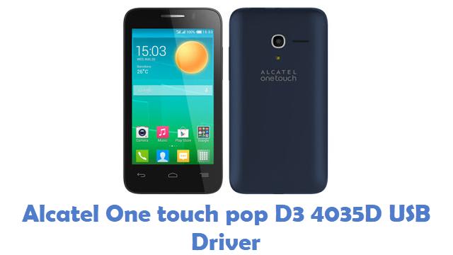 Alcatel One Touch Pop D3 4035D USB Driver