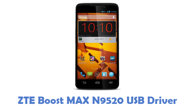 ZTE Boost MAX N9520 USB Driver