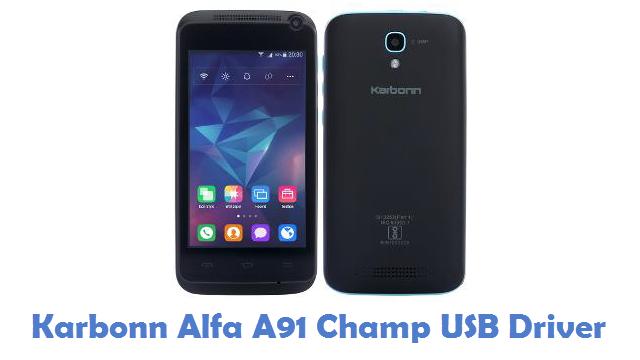 Karbonn Alfa A91 Champ USB Driver